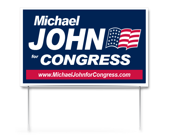 Poly Cardbpard Pocket Political Campaign Yard Signs And Sign
